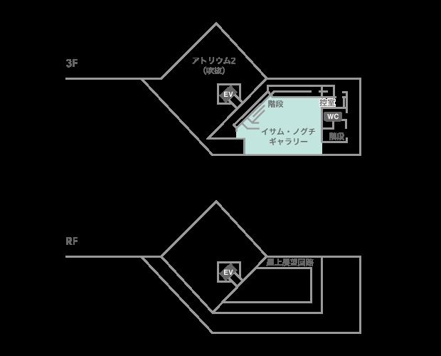 フロアマップ(3F/RF)