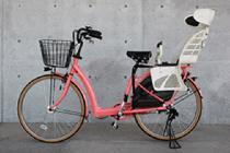 乳幼児用バスケット付き自転車26インチの写真