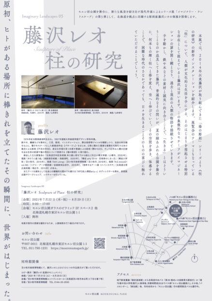 藤沢レオ 柱の研究フライヤー裏